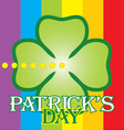 patrick day label vector image