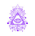 all-seeing eye pyramid symbol vector image