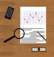 paper report analytics vector image