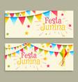 festa junina celebration banners vector image