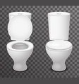 toilet ceramic seat open closed 3d isolated icon vector image