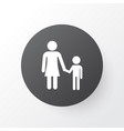 mother with child icon symbol premium quality vector image