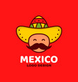 cute happy smiling mexico man face vector image