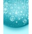 Blue elegant christmas snowflakes EPS 8 vector image vector image