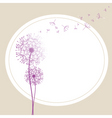 abstract dandelion in the wind vector image vector image