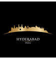 Hyderabad India city skyline silhouette vector image vector image