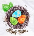 Happy easter nest vector image vector image