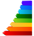 Different color arrows for your design vector image