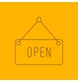 Open hanging sign line icon vector image