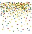 falling down confetti vector image