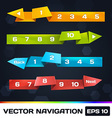 Paper Navigation With Origami vector image vector image