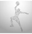 basketball poly gray vector image