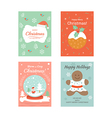 Christmas Cards 1 vector image