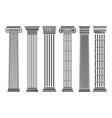greek and roman columns set vector image
