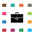 isolated briefcase icon suitcase element vector image