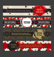 japanese banner templates set asian culture vector image