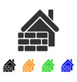 realty brick wall icon vector image