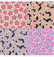 seamless japanese floral pattern vector image