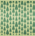 seamless pattern with fir trees in retro colors vector image