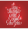 Shining new year and merry christmas decoration vector image
