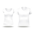 white shirt template vector image