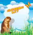 groundhog day vector image vector image