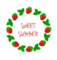 berry strawberry frame with an inscription vector image