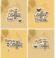 coffee breaks vector image