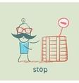 stop vector image