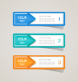 Sticker label paper colorful set vector image vector image
