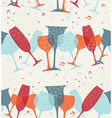 Cocktail glass seamless pattern background vector image