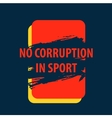 poster There is corruption in the sport vector image