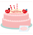 Happy valentine cake vector image