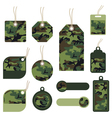 camouflage tags vector image vector image