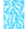Tropical aqua leaves on a white background vector image vector image