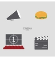 Abstract Cinema objects vector image
