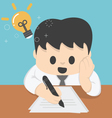 Businessman Thinking Ideas Strategy Working vector image