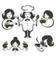 cooking women vector image