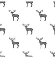 deer with big hornsanimals single icon in vector image