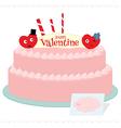 Happy valentine cake vector image