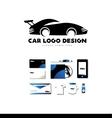 Race car logo icon design vector image