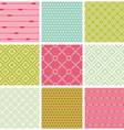 Seamless colorful backgrounds collection - vintage vector image