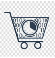 silhouette cart online store vector image