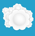 white paper flower vector image