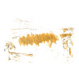 yellow watercolor hand painted brush grunge paper vector image