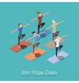Yoga class scene vector image