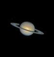 realistic planet Saturn vector image vector image