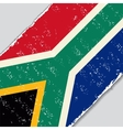 South African grunge flag vector image