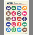 Sea work road transport and signs drawn by chalk vector image vector image