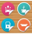 Petrol or Gas station services icons Car wash vector image